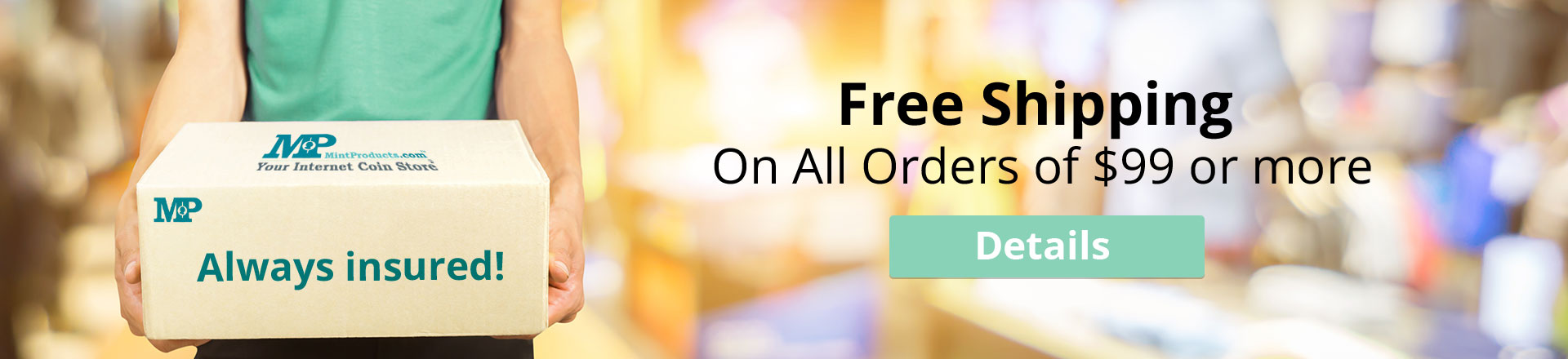 Free Shipping on orders of $99 or more at MintProducts
