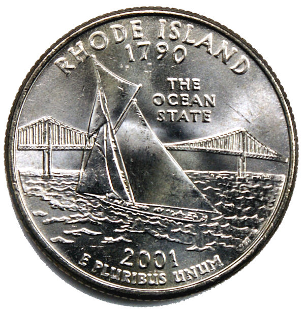 2001 S RHODE ISLAND  *90/% SILVER PROOF*  STATE QUARTER   **FREE SHIPPING**