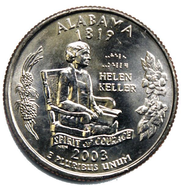 P  Alabama   State Quarter  **BRILLIANT UNCIRCULATED** 2003