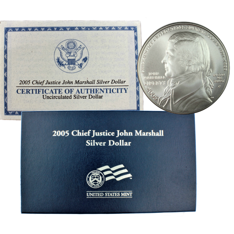 2005-P Chief Justice John Marshall Coin and Chronicles Set MINT SEALED