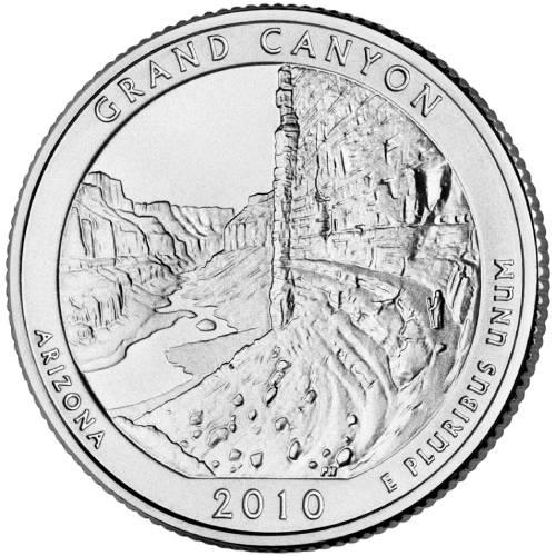2010 P/&D GRAND CANYON QUARTERS GEM BU