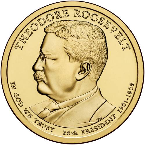 """2013 P Theodore Roosevelt Presidential Dollar /""""Brilliant Uncirculated/"""" US Coin"""