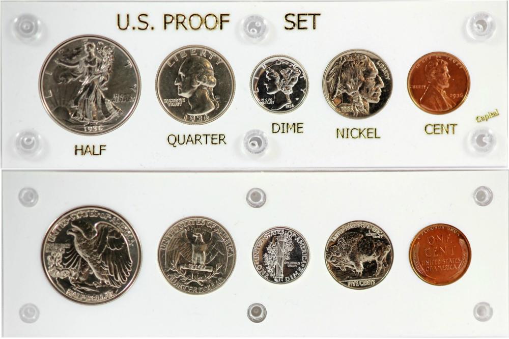 """SPECIAL MINT SET 1965 COIN DISPLAY W//FREE SHIP!! CAPITAL PLASTICS 2/""""x 6/"""" U.S"""