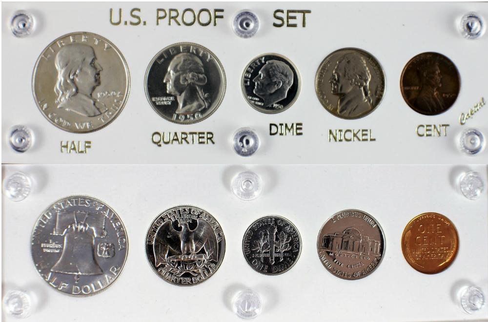 """2/""""x 6/"""" U.S SPECIAL MINT SET 1967 COIN DISPLAY W//FREE SHP! CAPITAL PLASTICS"""