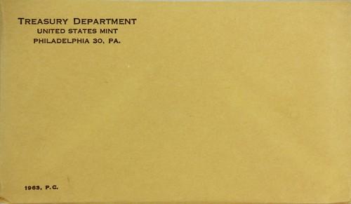 UNOPENED 1963 Proof Set ~ Original Envelope With COA ~ US Silver Mint Coin Set
