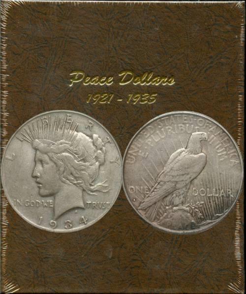 The Coin Collector Album Peace Dollars USA America 1921 1935 Not Dansco Collect