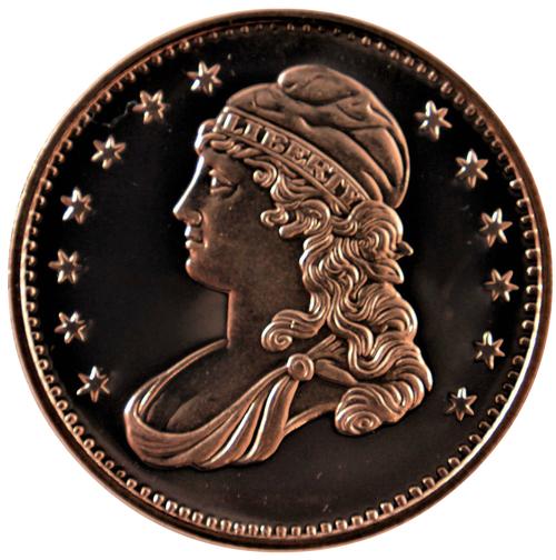 Liberty  PROSPECTOR 1 oz Copper Round BUFFALO REVERSE