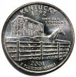2001 Kentucky State Quarter Coin - P or D Mint - BU