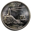 2003 Maine State Quarter Coin - P or D Mint - BU