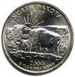 2006 North Dakota State Quarter Coin - P or D Mint - BU