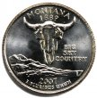 2007 Montana State Quarter Coin - P or D Mint - BU
