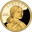 2001 Sacagawea Proof Golden Dollar Coin - S Mint