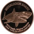 1 oz Copper Round - Megalodon Shark Design