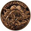 1 oz Copper Round - Dinosaur Series - Stegosaurus Design