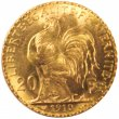 Early 1900's French 20 Francs Rooster Gold Coin - Random Date - BU