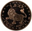 1 oz Copper Round - Zodiac Series - Leo Design