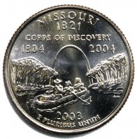 2003 Missouri State Quarter Coin - P or D Mint - BU