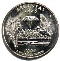 2003 Arkansas State Quarter Coin - P or D Mint - BU