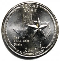 2004 Texas State Quarter Coin - P or D Mint - BU