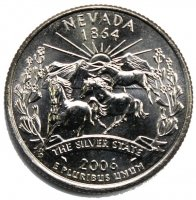 2006 Nevada State Quarter Coin - P or D Mint - BU