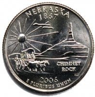 2006 Nebraska State Quarter Coin - P or D Mint - BU