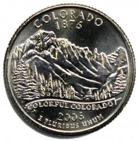 2006 Colorado State Quarter Coin - P or D Mint - BU