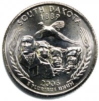 2006 South Dakota State Quarter Coin - P or D Mint - BU