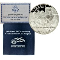2007 Jamestown Commemorative Silver Dollar Coin (Proof)