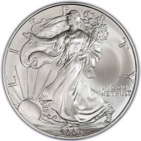 2006 1 oz American Silver Eagle Coin - Gem BU