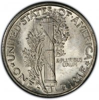 1934-D Mercury Silver Dime Coin - Choice BU