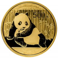 1 oz Chinese Gold Panda Coin - Random Date - Gem BU
