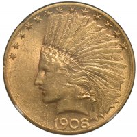 $10.00 Indian Head Gold Eagle Coins - Random Dates - XF/AU