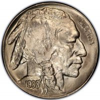1938-D Buffalo Nickel Coin - Gem BU