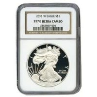 2010-W 1 oz American Proof Silver Eagle Coin - NGC PF-70 Ultra Cameo