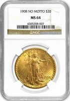 $20.00 Saint Gaudens Gold Double Eagle Coins - Random Dates - PCGS or NGC MS-64