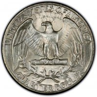 1934 Washington Silver Quarter Coin - Light Motto - Choice BU
