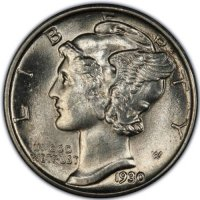 1930 Mercury Silver Dime Coin - Choice BU