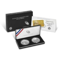 2018 World War I Commemorative Silver 2 Piece Coin Set (Army)