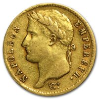Early 1800's French Napoleon I 20 Francs Gold Coin - Random Date - VF+