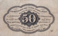 1st Issue 1862 50 Cents Fractional Currency - Civil War Era - Fine or Better