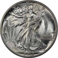 Walking Liberty Silver Half Dollar Coins - Random Dates - BU