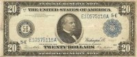 1914 $20.00 Federal Reserve Note - Large Type - Fine