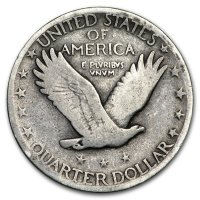 1916-1930 40-Coin 90% Silver Standing Liberty Quarter Roll - Avg. Circ. (w/ Dates)