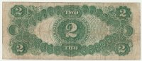 1917 $2.00 Legal Tender Note - Large Type - Fine