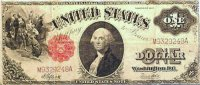 1917 $1.00 Legal Tender Note - Large Type - Very Good to Fine