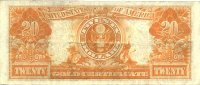 1922 $20.00 Gold Certificate - Large Type - Fine