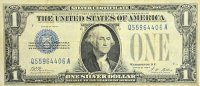 1928 $1.00 Funny Back Silver Certificate - Small Type - Fine to Very Fine