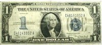 1934 $1.00 Funny Back Silver Certificate - Small Type - Fine to Very Fine