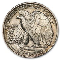 1916-1947 20-Coin 90% Silver Walking Liberty Half Dollar Roll - AU
