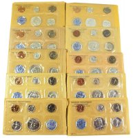 All 11 1955-1964 U.S. Silver Proof Coin Sets in Flat-Packs (includes 1960 Small Date)